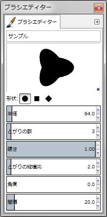 gimp-brushEditorDialog-setting--Shape-Circle--Spikes-3--AspectRatio-20